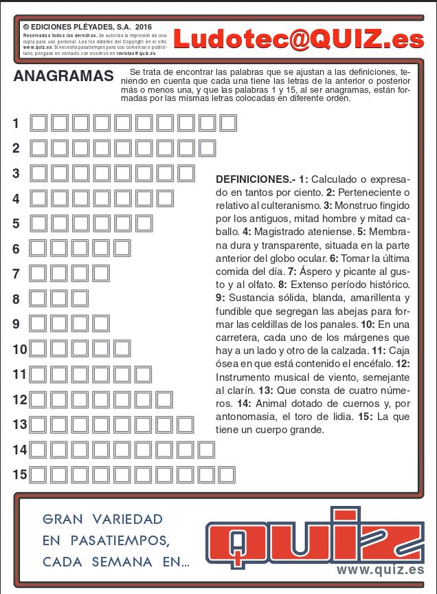 Quiz Noticia Anagrama Imprimir Y Resolver 523